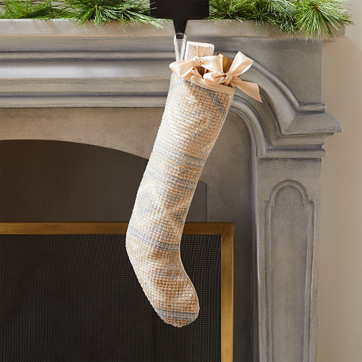 Hand-Knotted Ivory Stocking