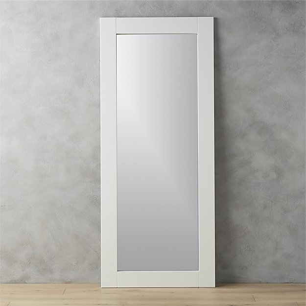 32x76 leaning white floor mirror + Reviews | CB2