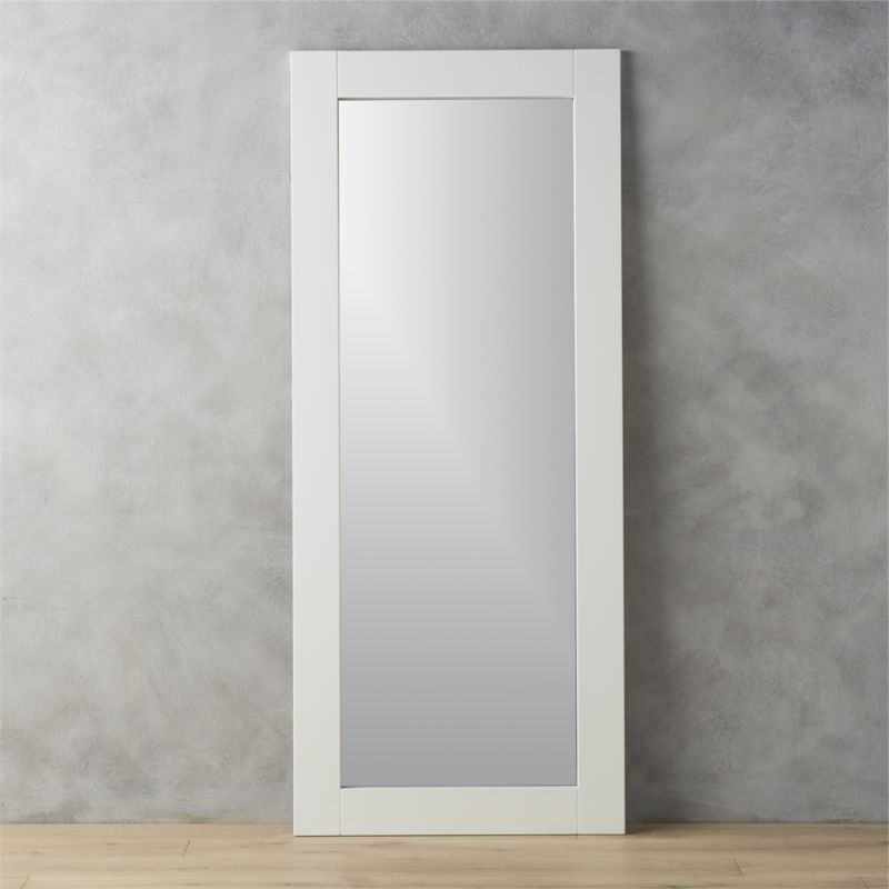 32x76 leaning white floor mirror Reviews CB2