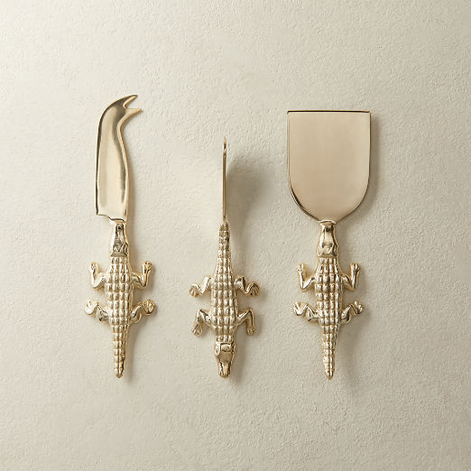 Hank Alligator Cheese Knives Set of 3