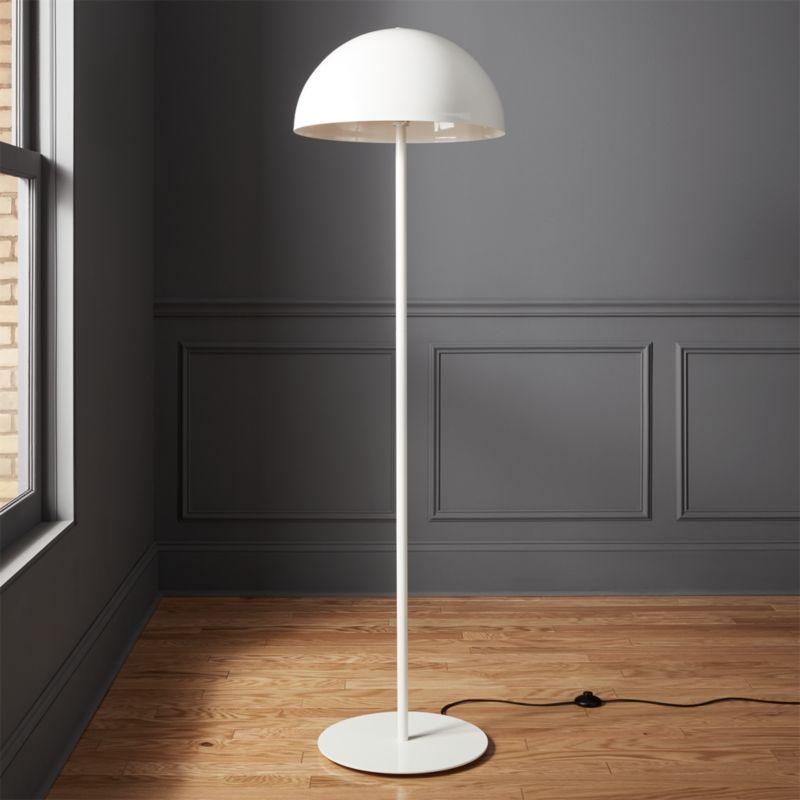 Modern led floor lamps cb2 hanna white floor lamp aloadofball Image collections