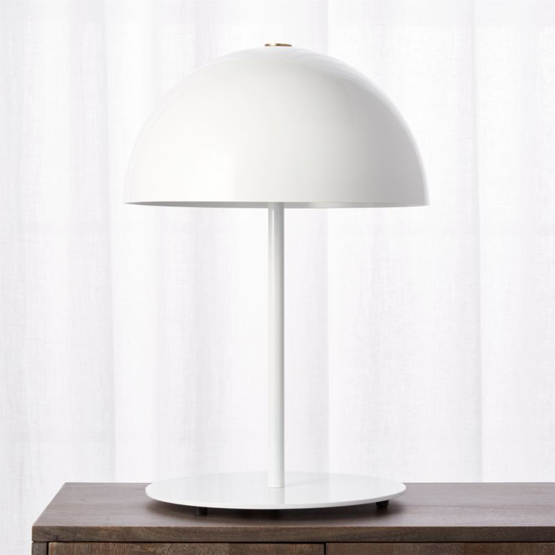 Led table lamps cb2 hanna white table lamp aloadofball Image collections