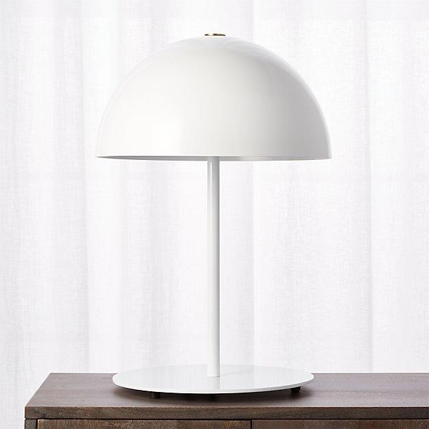 Hanna white table lamp reviews cb2 aloadofball Gallery