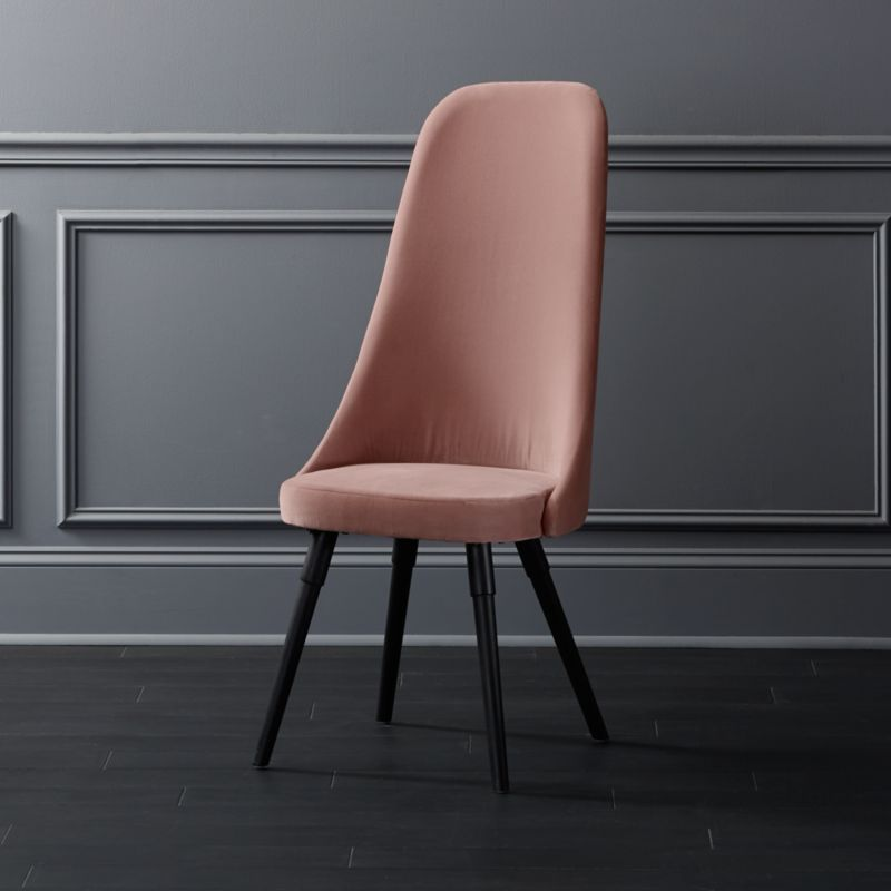 Pink Velvet Dining Chairs With Chrome Legs