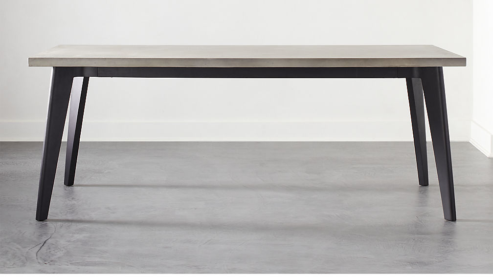 Harper Black Dining Table with Concrete Top - Image 1 of 6