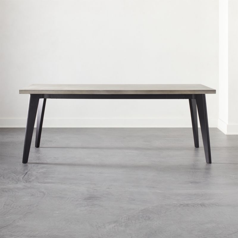 Harper Black Dining Table With Concrete Top Reviews Cb2 Canada