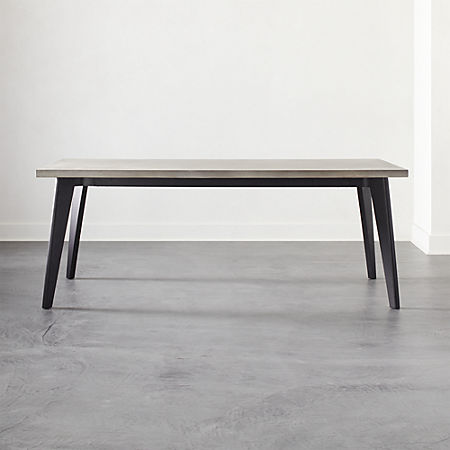 Harper Black Dining Table With Concrete Top Reviews Cb2