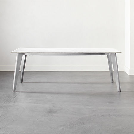 Harper Nickel Dining Table With Marble Top