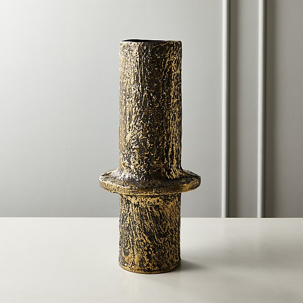 Harper Textured Metal Vase - Image 1 of 6