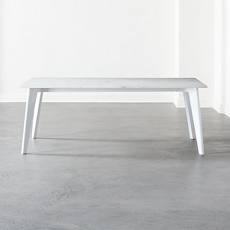 Harper White Dining Table With White Marble Top Reviews Cb2 Canada