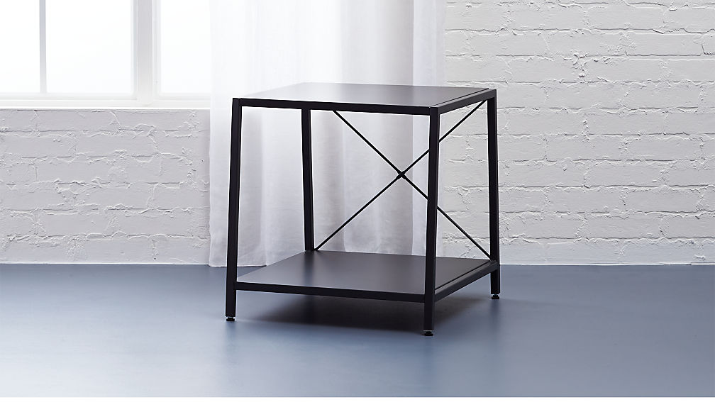 harvey carbon grey nightstand + reviews | cb2 Metal Nightstand