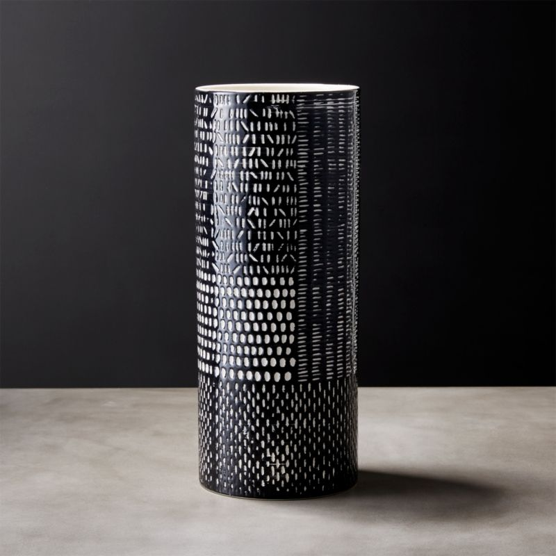 Hash Black And White Vase