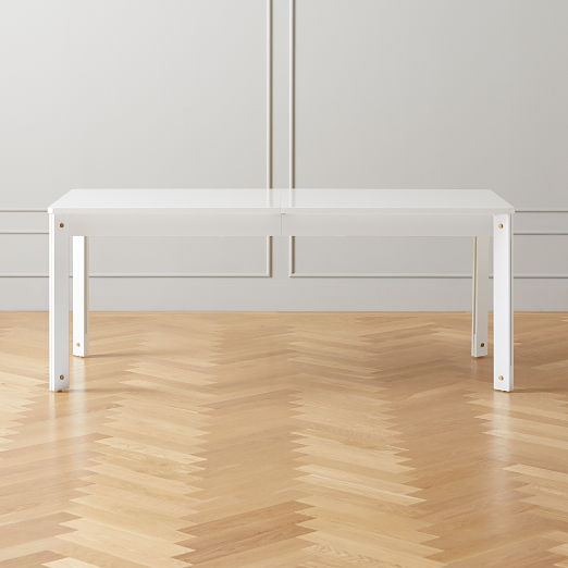 Hatch High Gloss White Extention Dining Table