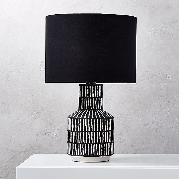 Hatch Black And White Table Lamp Reviews Cb2