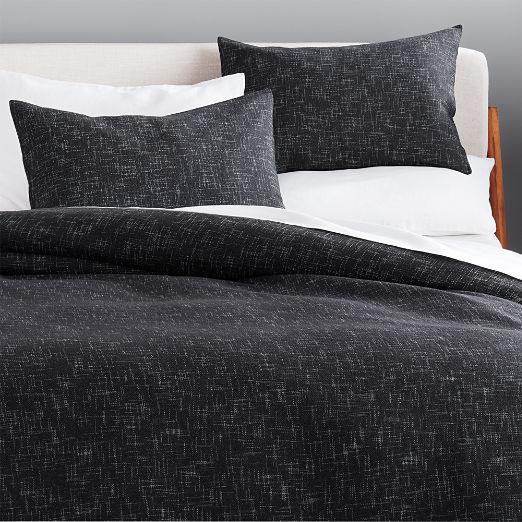 Hatchmark Charcoal Bedding