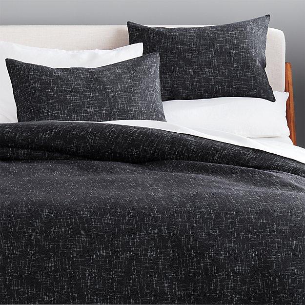 Hatchmark Charcoal Bedding - Image 1 of 2