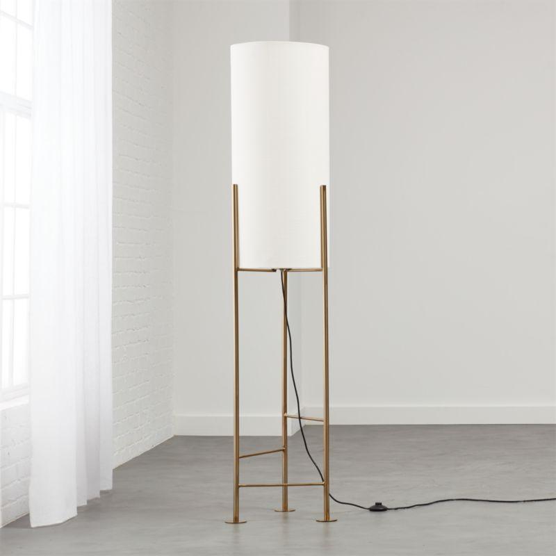 Haus white floor lamp reviews cb2 aloadofball Images