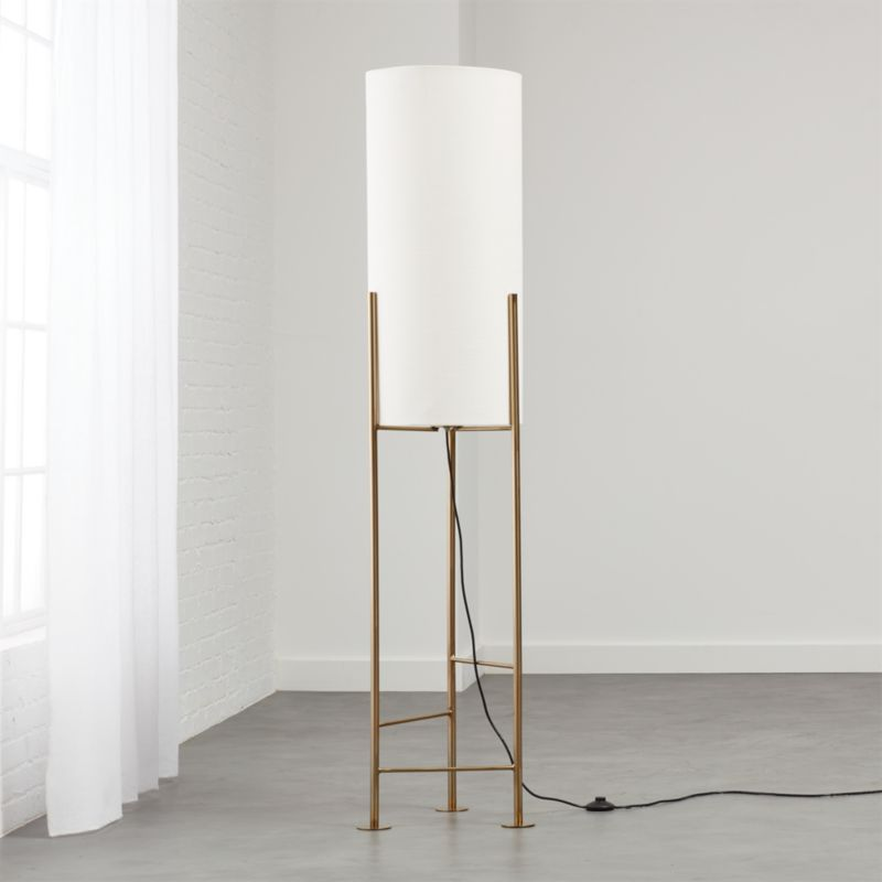 Modern led floor lamps cb2 haus white floor lamp mozeypictures Choice Image