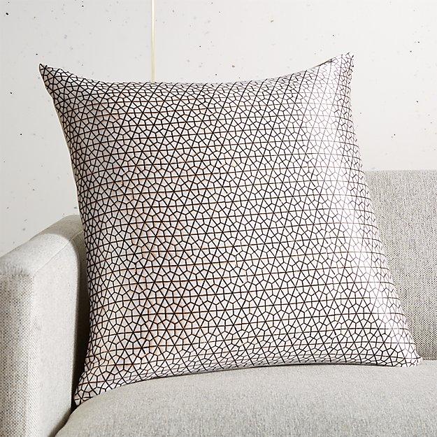 "20"" Hawa Nougat Block Print Hexagon Pillow - Image 1 of 6"
