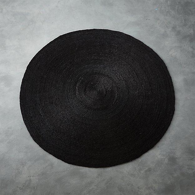 Black Round Rug Rugs Ideas