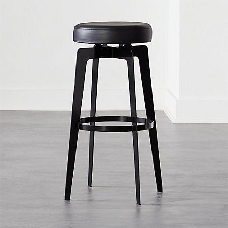 Peachy Hayden Round Bar Stool 30 Black Uwap Interior Chair Design Uwaporg