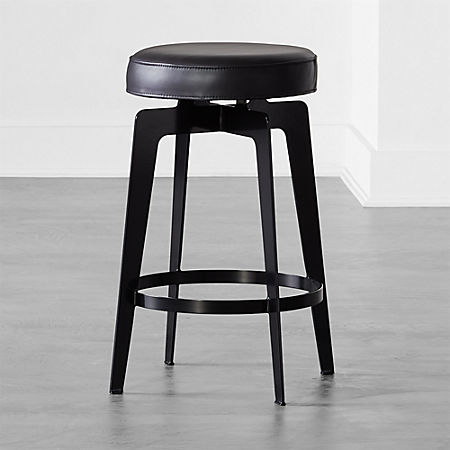 Stupendous Hayden Round Counter Stool 24 Black Bralicious Painted Fabric Chair Ideas Braliciousco