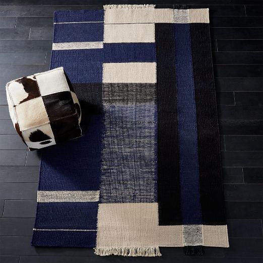 Haymarket Navy Wool Rug 5x8