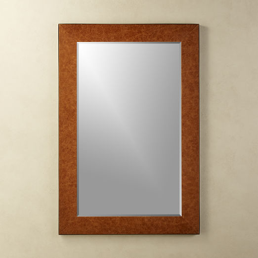 Heath Leather Mirror