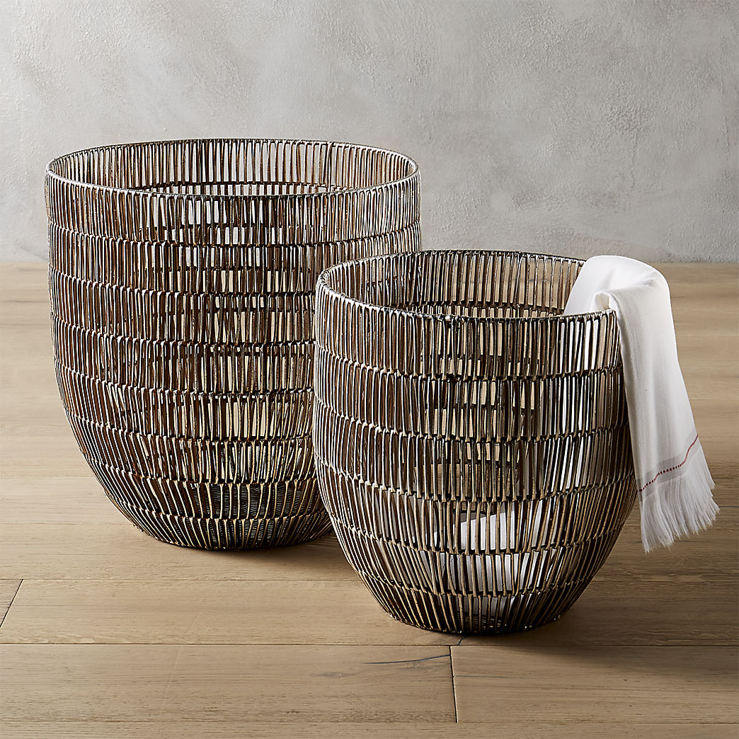 Exceptionnel Storage Baskets: Metal, Rope, Jute And More | CB2