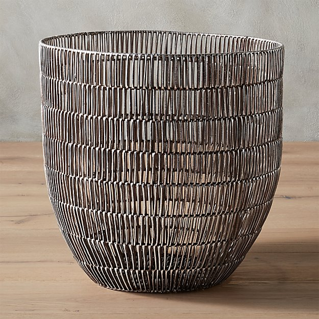 heavy metal large basket reviews cb2