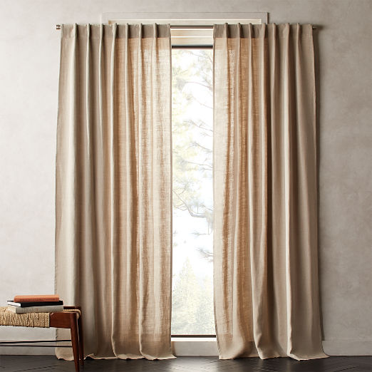Heavyweight Natural Linen Curtain Panel