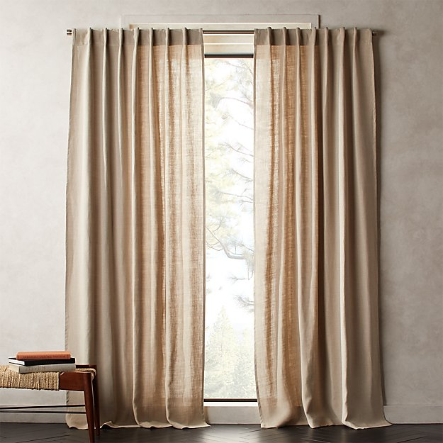 Heavyweight Natural Linen Curtain Panel - Image 1 of 2