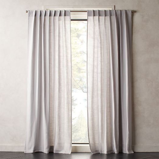 Heavyweight Silver Grey Linen Curtain Panel