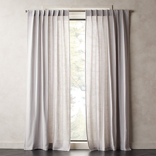 Heavyweight Silver Grey Linen Curtain Panel - Image 1 of 2