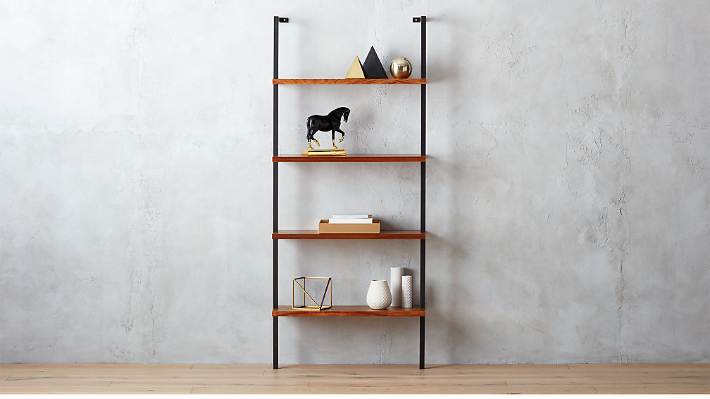 helix acacia wall mounted bookcase reviews cb2 - Bookshelves Wall Mounted