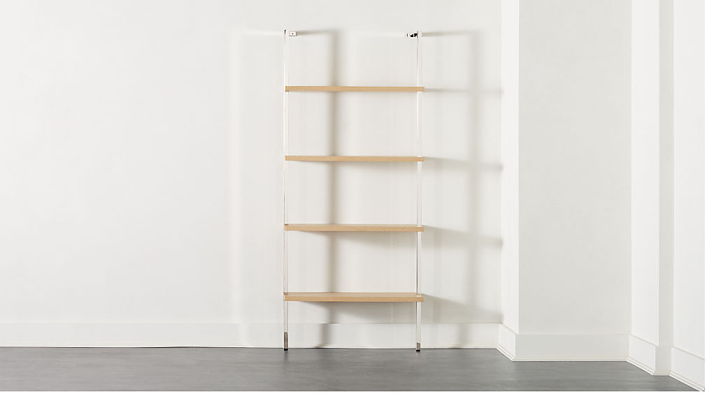 """Helix 70"""" Bleached Oak Bookcase - Image 1 of 7"""