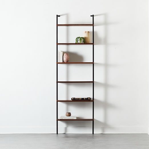"Helix 96"" Walnut Bookcase"