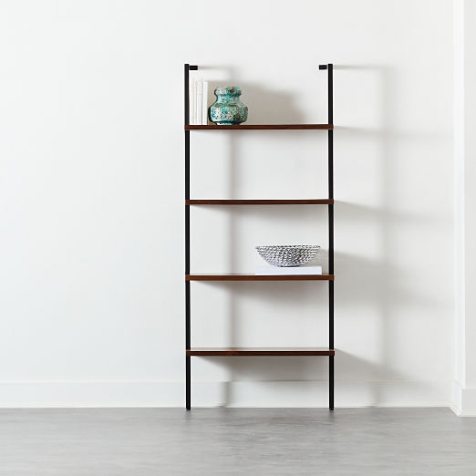 "Helix 70"" Walnut Bookcase"