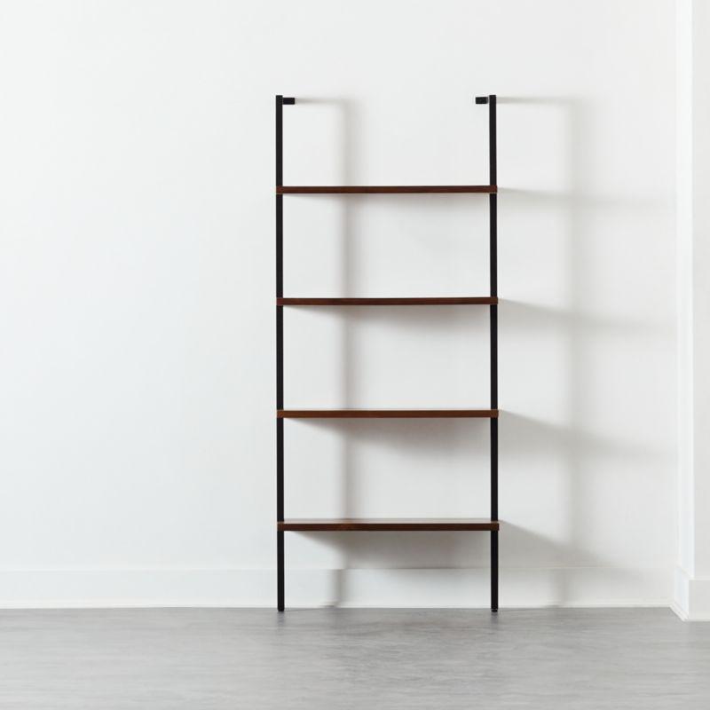 Helix 70 Walnut Bookcase Reviews Cb2