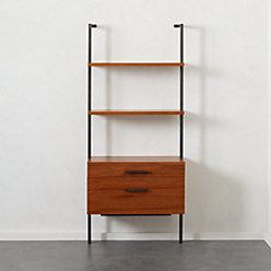 Helix 70 Acacia Shelf With 2 Drawers