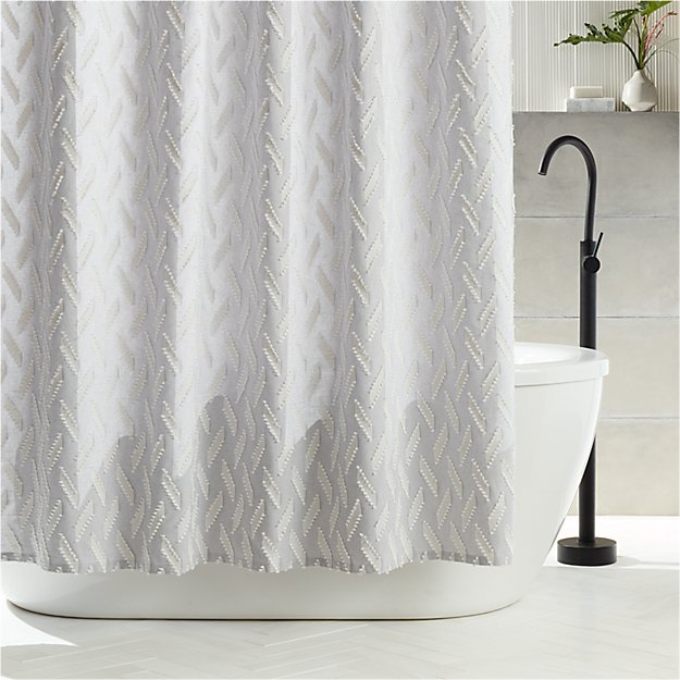 Heritage Grey Shower Curtain - Image 1 of 5