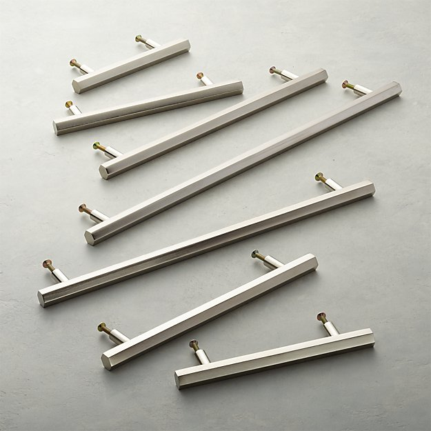 Hex Brushed Nickel Handles - Image 1 of 10