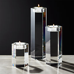 Hex Crystal Tea Light Candle Holders