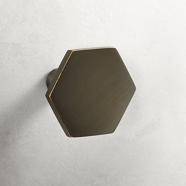 Hex Brushed Bronze Knob - Image 1 of 4