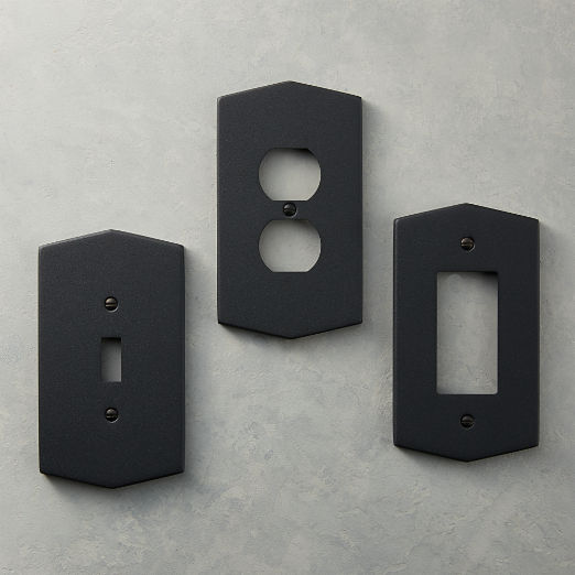 Hex Matte Black Wall Plates