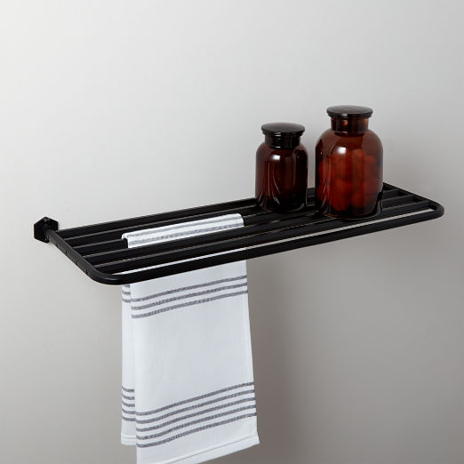 Hex Large Matte Black Train Towel Rack