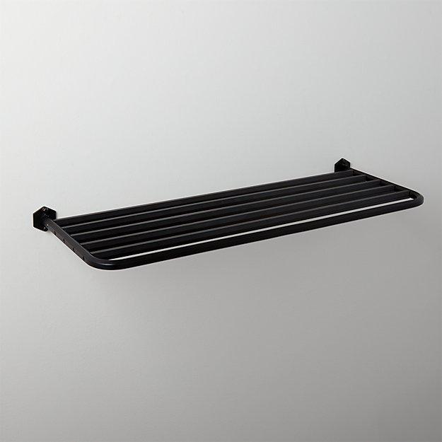 Hex Large Matte Black Train Towel Rack - Image 1 of 3