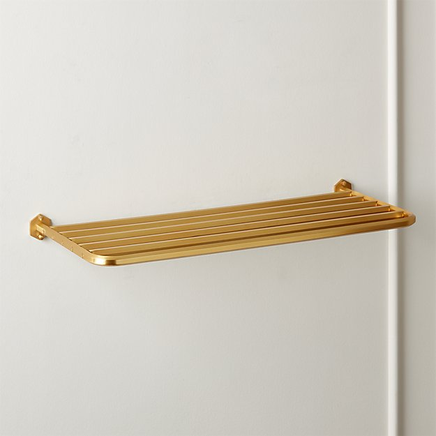Hex Large Brass Train Towel Rack - Image 1 of 3