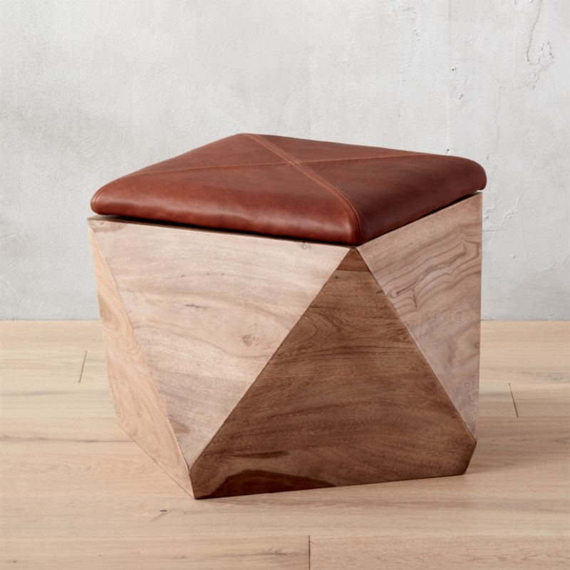Exceptionnel Hexagon Ottoman With Storge + Reviews | CB2