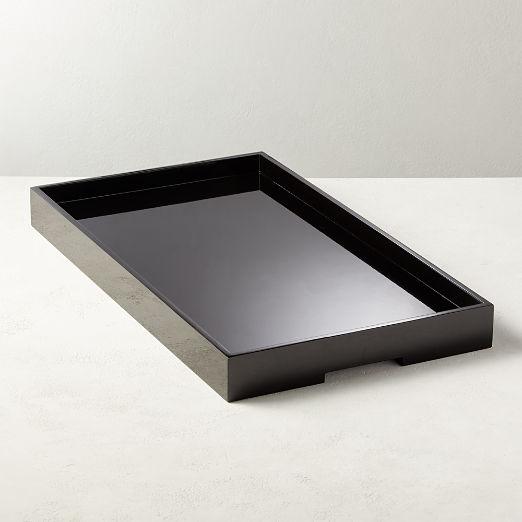 Hi-Gloss Black Rectangle Tray